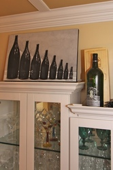 Champagne Bottles Displayed over Bar Area